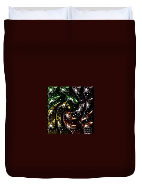 Duvet Cover featuring the digital art The History Of Fashion by Ann Calvo
