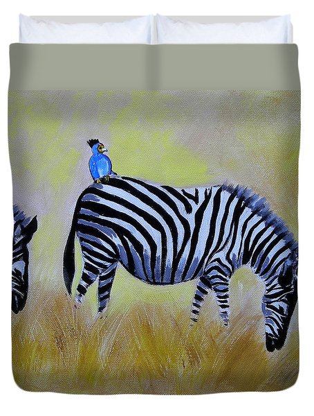 The Hitchhiker Duvet Cover