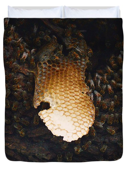 The Hive  Duvet Cover by Shawn Marlow