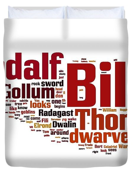 The Hobbit Duvet Cover by Florian Rodarte