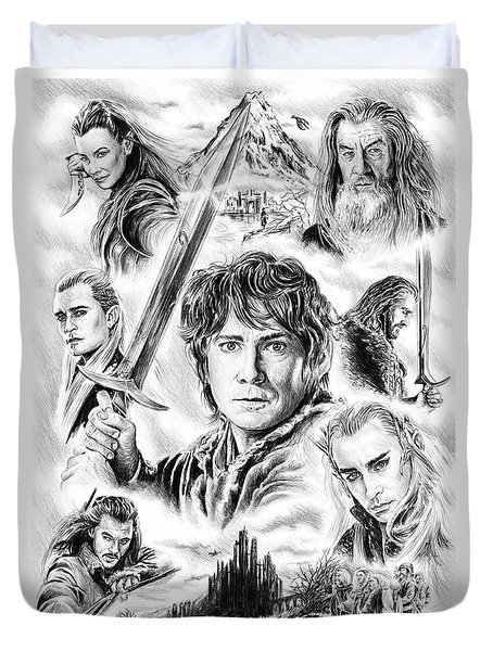 The Hobbit Middle Earth Duvet Cover
