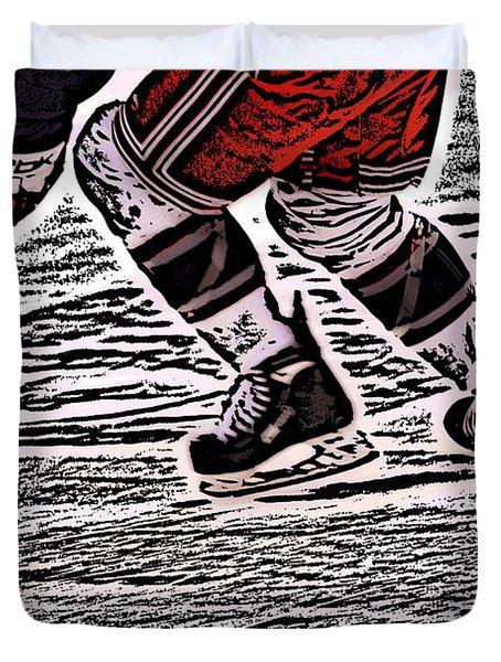 The Hockey Player Duvet Cover