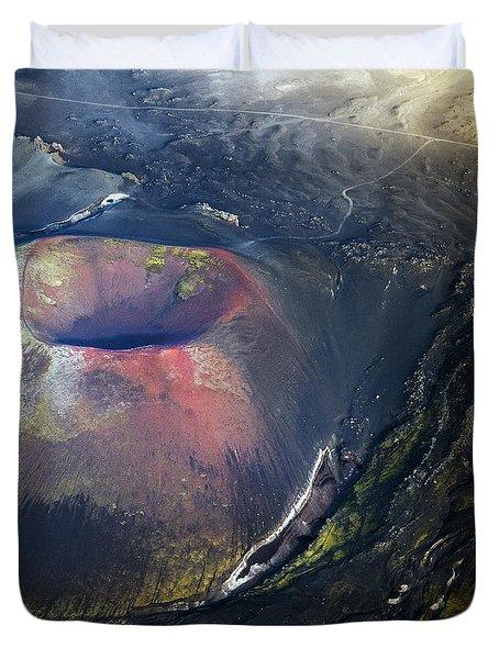Duvet Cover featuring the photograph The Hole by Gunnar Orn Arnason
