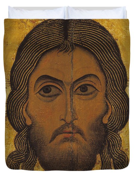 The Holy Face Duvet Cover by Novgorod School