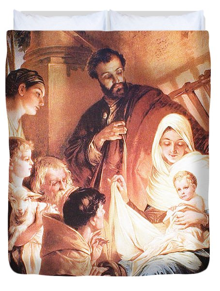 The Holy Family Duvet Cover by Unknown