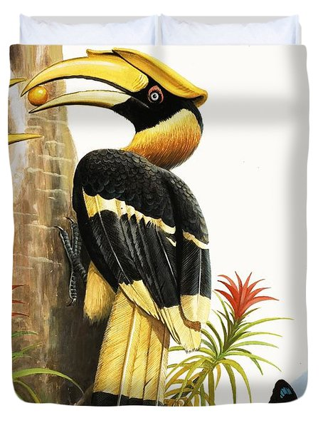 The Hornbill Duvet Cover by R.B. Davis