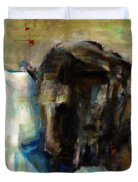 The Horse As Art Duvet Cover by Frances Marino