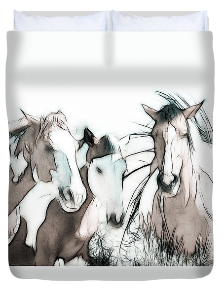 The Horse Club Duvet Cover by Athena Mckinzie