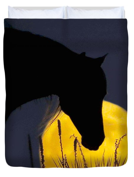 The Horse In The Moon Duvet Cover