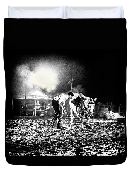 Duvet Cover featuring the photograph The Horse That Suffered  by Stwayne Keubrick