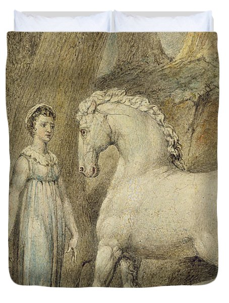 The Horse Duvet Cover by William Blake
