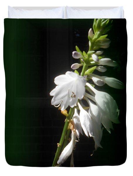 The Hosta Flowers Duvet Cover by Patricia Keller