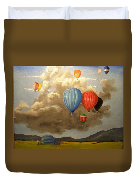 The Hot Air Balloon Duvet Cover