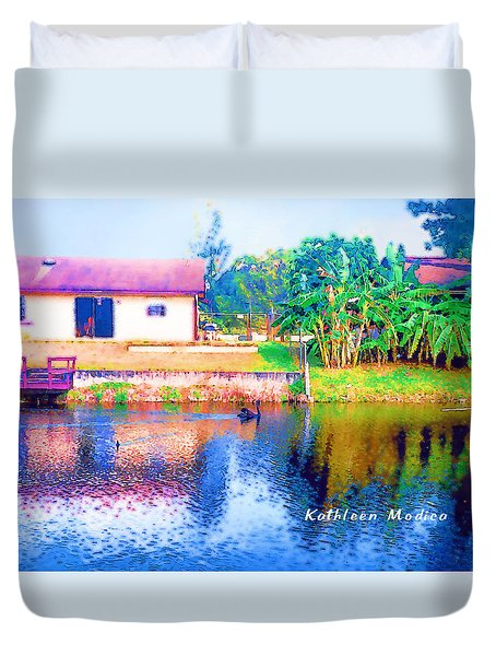 The House Across The Way Duvet Cover