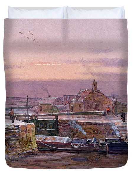 The House By The Canal Duvet Cover by Charles Brooke Branwhite