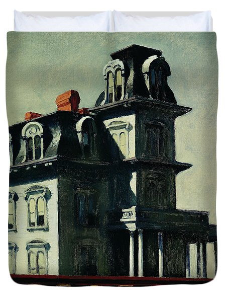 The House By The Railroad Duvet Cover by Edward Hopper