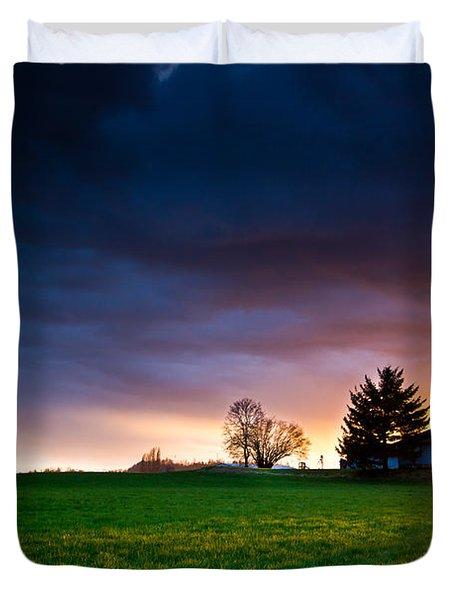 The House Of The Rising Sun Duvet Cover by Eti Reid