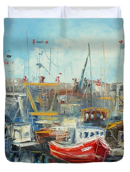 The Howth Harbour Duvet Cover