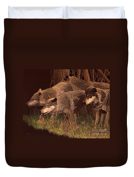 The Hunt Duvet Cover