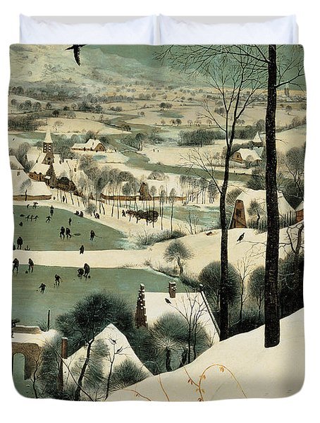 The Hunters In The Snow Duvet Cover by Jan the Elder Brueghel