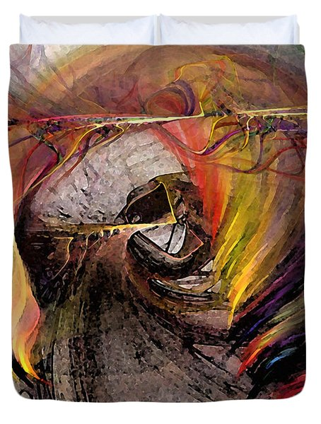 The Huntress-abstract Art Duvet Cover