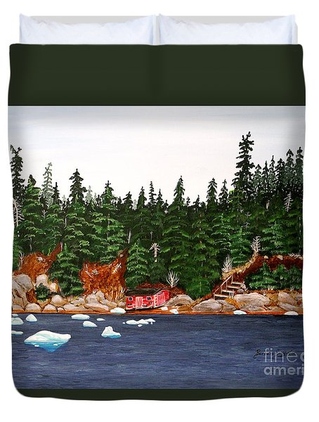 The Ice Took It Duvet Cover by Barbara Griffin