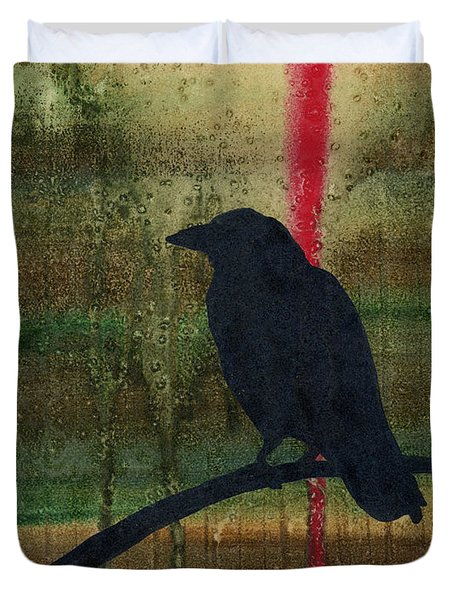 The Impossibility Of Crows Duvet Cover by Jim Stark