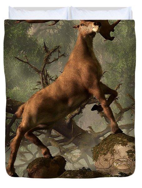 The Irish Elk Duvet Cover