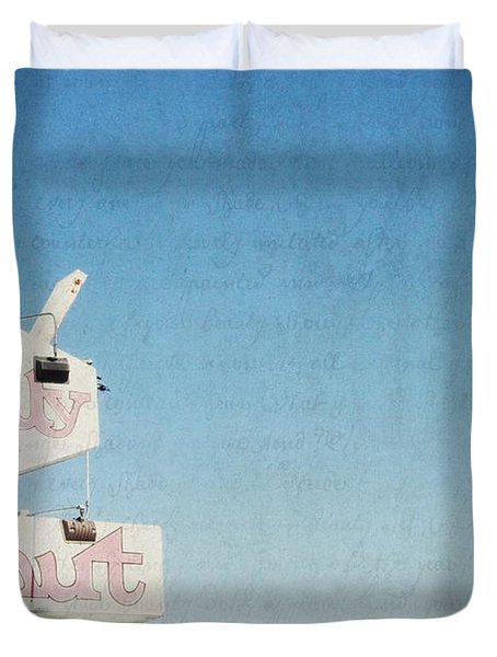 The Jelly Donut - California Duvet Cover by Lisa Parrish