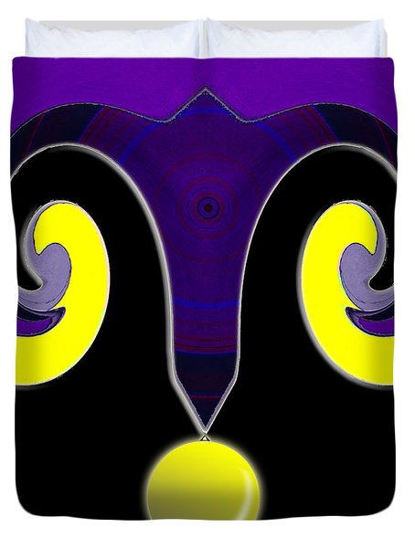 Duvet Cover featuring the photograph The Jesters Magic Hat by Fran Riley