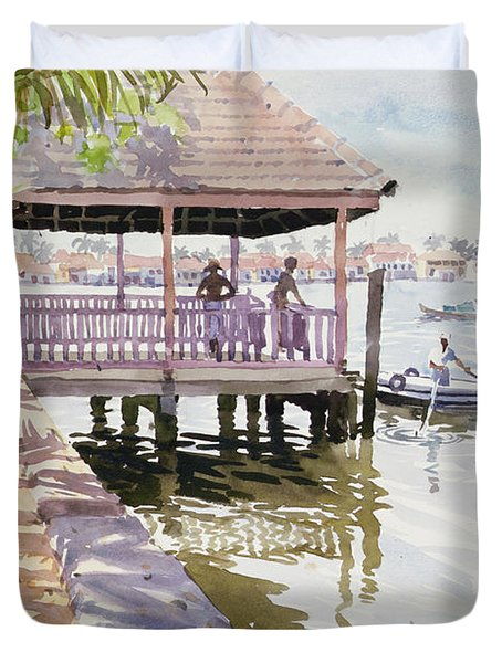 The Jetty Cochin Duvet Cover by Lucy Willis