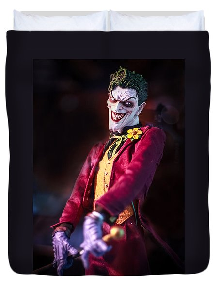 Duvet Cover featuring the photograph The Joker Dummy by Stwayne Keubrick