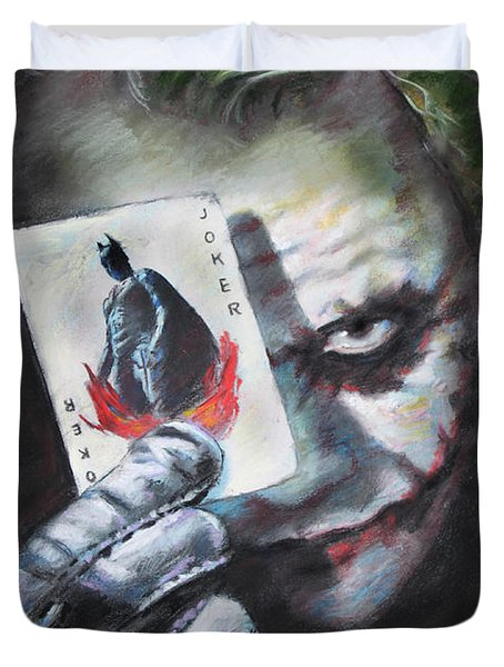 The Joker Heath Ledger  Duvet Cover by Viola El