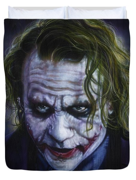 The Joker Duvet Cover by Tim  Scoggins