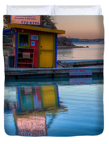 The Kayak Shack Morro Bay Duvet Cover