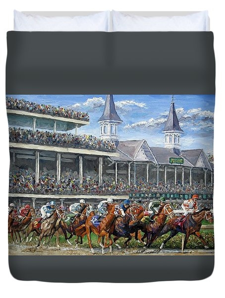 The Kentucky Derby - Churchill Downs Duvet Cover