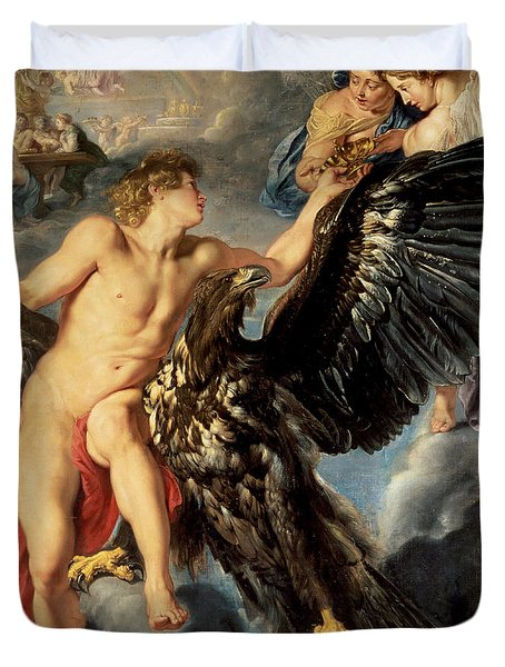 The Kidnapping Of Ganymede Duvet Cover by Rubens