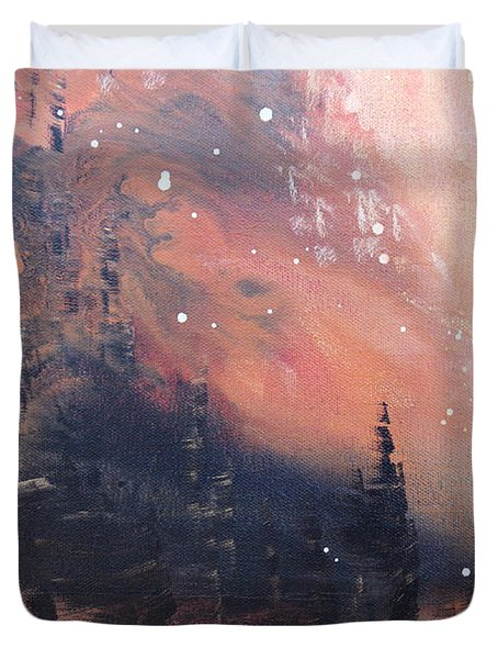 The Kingdom Under The Mountain Duvet Cover by Kume Bryant