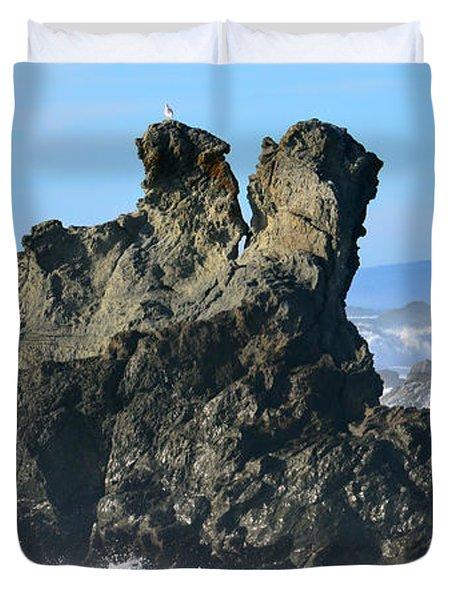 The Kissing Rocks Duvet Cover