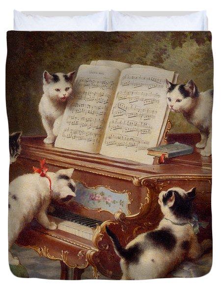 The Kittens Recital Duvet Cover