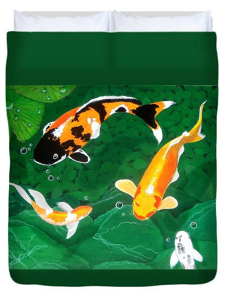 The koi pond painting by karyn robinson for Koi pool cover