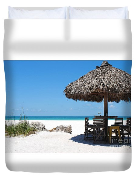 The Kokonut Hut  Duvet Cover by Margie Amberge