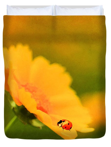 The Lady Bug Duvet Cover by Darren Fisher
