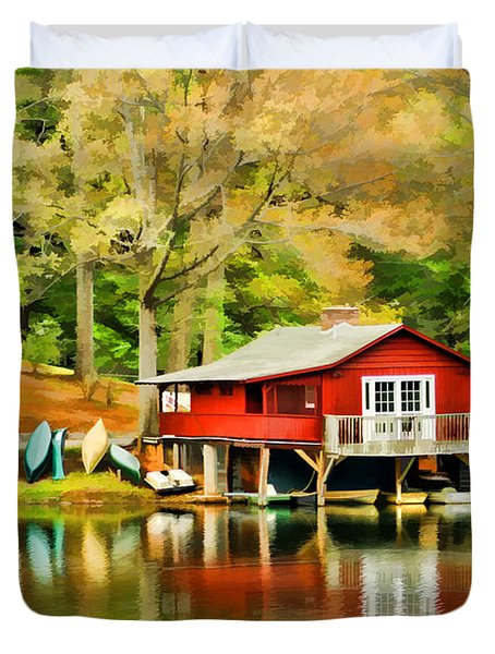 The Lake House Duvet Cover by Darren Fisher