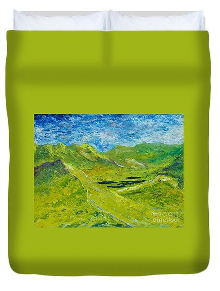 Duvet Cover featuring the painting The Lakes Of Killarney  Original Sold by Conor Murphy