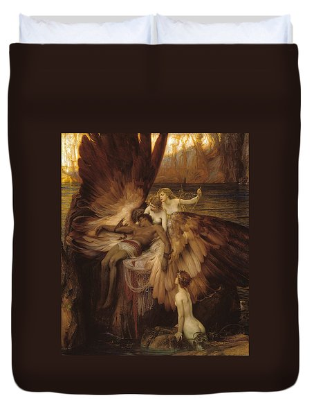Duvet Cover featuring the painting The Lament For Icarus by Herbert James Draper