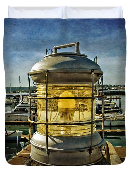 Duvet Cover featuring the photograph The Lamp At Embarcadero  by Thom Zehrfeld