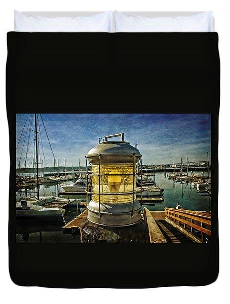 The Lamp At Embarcadero  Duvet Cover