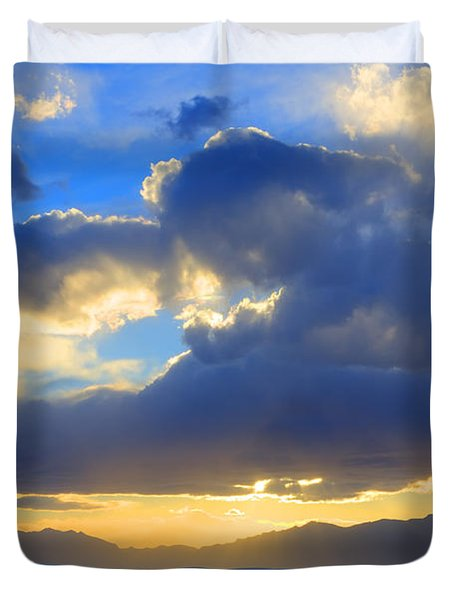The Land Of Enchantment Duvet Cover by Bob Christopher
