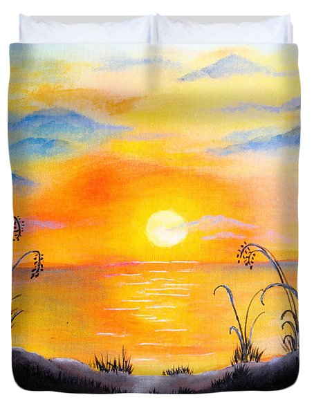 The Land Of The Dying Sun Duvet Cover by Nirdesha Munasinghe
